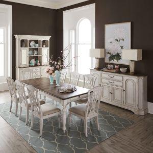 Liberty Furniture - Abbey Road 9 Piece Rectangular Table Set - 455W-DR-9RLS