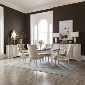 Liberty Furniture - Abbey Road Optional 5 Piece Rectangular Table Set - 455W-DR-O5RLS