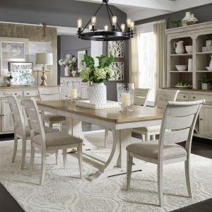 Liberty Furniture - Farmhouse Reimagined 7 Piece Trestle Table Set - 652-DR-O7TRS