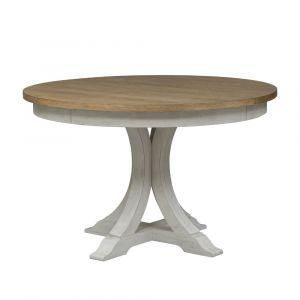 Liberty Furniture - Farmhouse Reimagined Oval Pedestal Table - 652-P4860_652-T4860