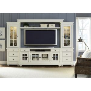 Liberty Furniture - Harbor View Entertainment Center With Piers In Linen - 631-ENTW-ECP