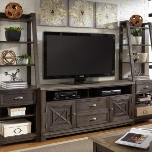 Liberty Furniture - Heatherbrook Entertainment Center with Piers - 422-ENTW-ECP
