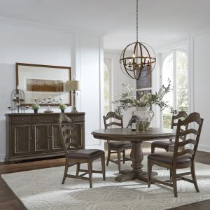 Liberty Furniture - Homestead 5 Piece Pedestal Table Set - 693-DR-5PDS