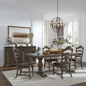 Liberty Furniture - Homestead 5 Piece Trestle Table Set - 693-DR-5TRS