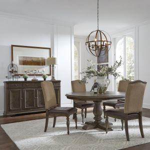 Liberty Furniture - Homestead Optional 5 Piece Pedestal Table Set - 693-DR-O5PDS
