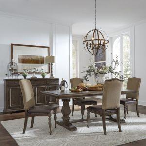 Liberty Furniture - Homestead Optional 5 Piece Trestle Table Set - 693-DR-O5TRS