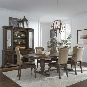 Liberty Furniture - Homestead Optional 7 Piece Trestle Table Set - 693-DR-O7TRS