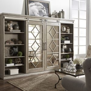 Liberty Furniture - Mirrored Reflections Entertainment Center with Piers - 874-ENTW-ECP