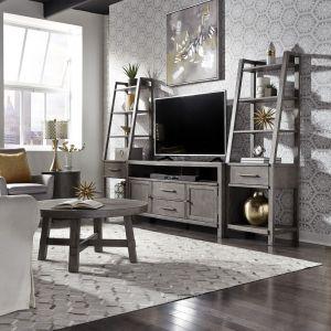 Liberty Furniture - Modern Farmhouse Entertainment Center with Piers - 406-ENTW-ECP