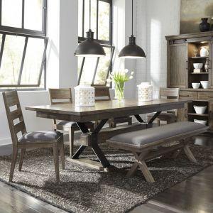 Liberty Furniture - Sonoma Road 6 Piece Trestle Table Set - 473-DR-6TRS