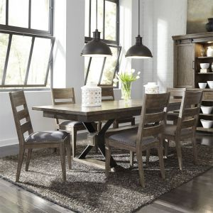 Liberty Furniture - Sonoma Road 7 Piece Pedestal Table Set - 473-DR-7PDS