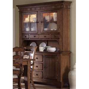 Liberty Furniture - Treasures Buffet & Hutch In Oak - 17-DR-HB
