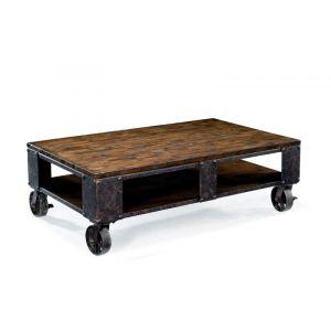 Magnussen - Pinebrook Wood Rectangular Cocktail Table (2 braking casters) - T1755-43