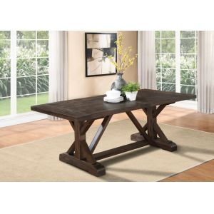 Modus Furniture - Cameron Solid Wood Extension Dining Table in Antique Charcoal - 9KT561C