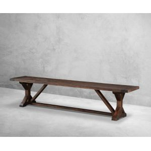 Modus Furniture - Cameron Solid Wood Trestle-style Dining Bench in Antique Charcoal - 9KT591C