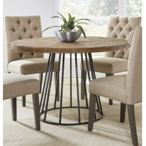 Modus Furniture - Mayfair Industrial Round Dining Table in Roughhewn Pine - 9K7661M