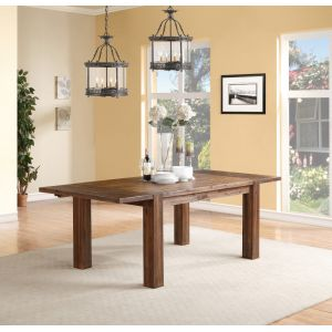 Modus Furniture - Meadow Solid Wood Extending Dining Table in Brick Brown - 3F4161
