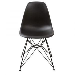 Modus Furniture - Rostock Molded Plastic Wire Base Dining Chair in Black (Set of 2) - 9LF866R