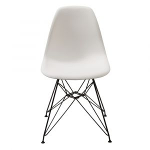 Modus Furniture - Rostock Molded Plastic Wire Base Dining Chair in White (Set of 2) - 9LA466R