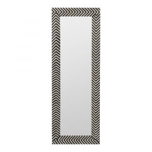 Moe's Home - Chevron Mirror in Black and Ivory - PJ-1018-37
