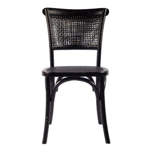 Moe's Home - Churchill Dining Chair in Antique Black (Set of 2) - FG-1001-02