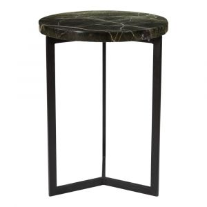Moe's Home - Draven Accent Table in Forest Marble Top and Black Matt - PJ-1020-16