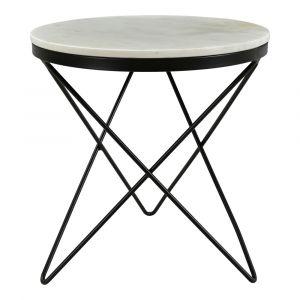 Moe's Home - Haley Side Table with Black Base - IK-1001-02