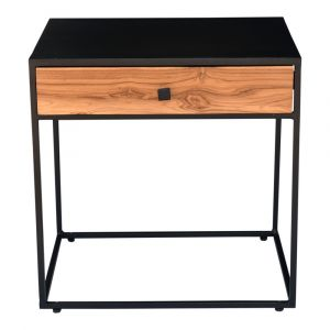 Moe's Home - Mayna Side Table in Black Finish - DR-1329-02