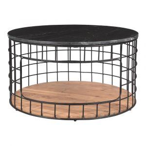 Moe's Home - Terrene Coffee Table in Black Marble Top - KY-1009-02