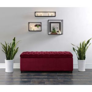 Picket House Furnishings - Carson Shoe Storage Bench in Cranberry - UCD287700