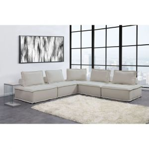 Picket House Furnishings Cube Modular Seating 5pc Sectional In Natural - UPX5255PC