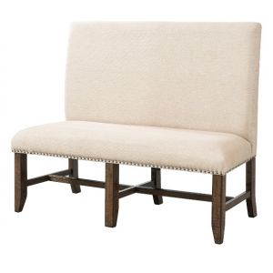 Picket House Furnishings - Francis Fabric Back Bench - DFK100BN
