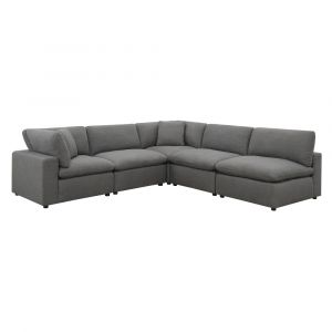 Picket House Furnishings Haven 5pc Sectional Sofa In Charcoal - UCL30575PC