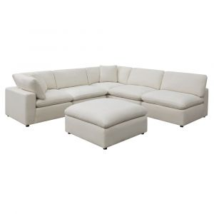Picket House Furnishings Haven 6pc Sectional Sofa In Cotton - UCL30556PC