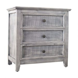 Picket House Furnishings Kendrick 3 Drawer Accent Chest In Silver - MALS06CNE