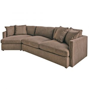 Picket House Furnishings - Maddox Left Arm Facing 2PC Sectional Set with Cuddler in Cocoa - 149-ARCOA-LCUD2PC