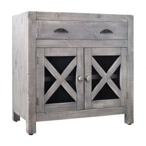 Picket House Furnishings Rylan 2 Door Accent Chest In Silver - MASN06CNE