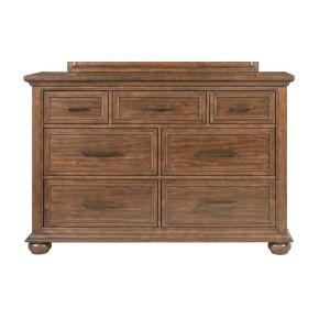 Pulaski - 7 Drawer Dresser in Honey Brown - 176-C005-010