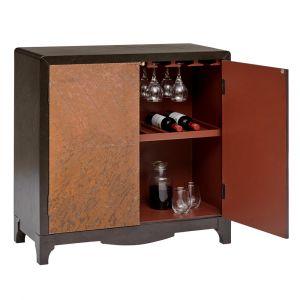 Pulaski - Copper Chevron Door Bar Cabinet - P020073 - CLOSEOUT