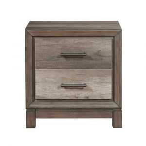 Pulaski - Hanover Square Two Drawer USB Charging Nightstand in Elm Brown - S468-050