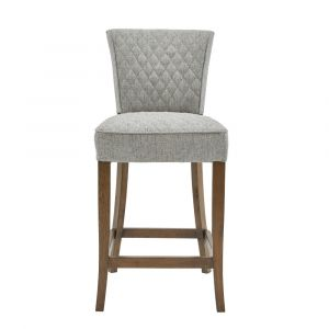 Pulaski - Quilted Linen Counter Stool - DS-D192-500A-502