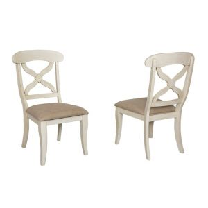 Sunset Trading - Andrews Dining Chair in Antique White (Set of 2) - DLU-ADW-C12-AW-2