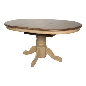 Sunset Trading - Brook Round or Oval Extension Dining Table - DLU-BR4260-PW