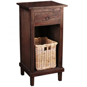 Sunset Trading - Cottage End Table with Basket - CC-CHE530S-RW-B