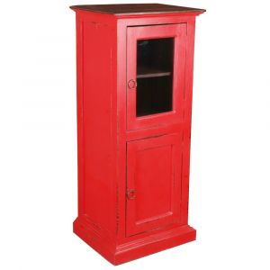 Sunset Trading - Cottage Glass Door Storage Cabinet - CC-CAB513TLD-RDRW