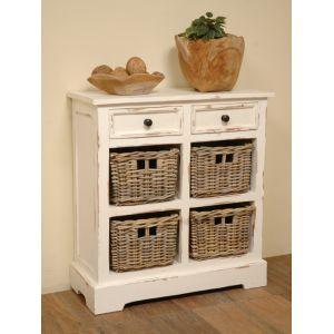 Sunset Trading - Cottage Storage Rack with Baskets - CC-CAB2229LD-WW-B