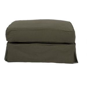Sunset Trading - Horizon Slipcovered Ottoman in Forest Green  - SU-117630-410026 - CLOSEOUT