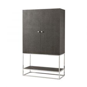 Theodore Alexander - TA Studio Raia Townsend Bar Cabinet in Tempest Shagreen Finish - TAS61027D