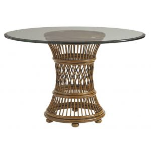 Tommy Bahama Home - Bali Hai Aruba Round Dining Table With 36-Inch Glass Top - 01-0593-870-36C