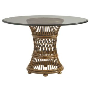 Tommy Bahama Home - Bali Hai Aruba Round Dining Table With 48-Inch Glass Top - 01-0593-870-48C